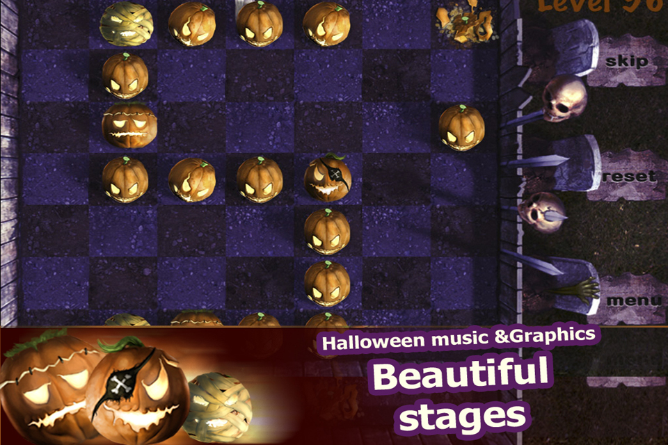 Screenshot Sliding Pumpkins